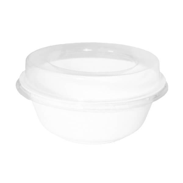 bowl y tapa compostable 960cc